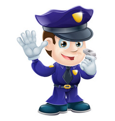 policeman character cartoon vector image vector image