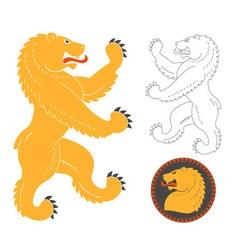 Roaring Heraldic Bear vector image