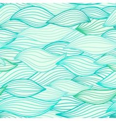Sea waves hand drawn vector image