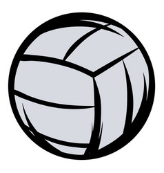 Voleyball icon cartoon vector