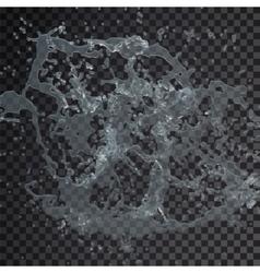 Water splash drop isolated transparent 3d vector