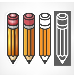 Wooden pencils stylized on vector image vector image