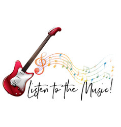 word expression for listen to the music with vector image