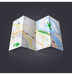 Travel map icon vector image