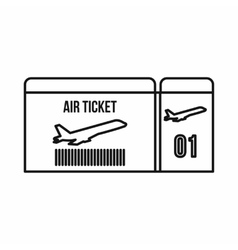 Air ticket icon outline style vector