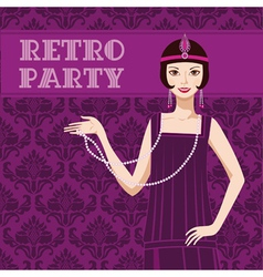 Retro party invitation vector