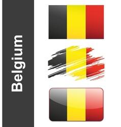 Flag Belgiumin vector image