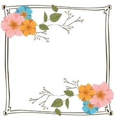 Beautiful flowers ornament vector