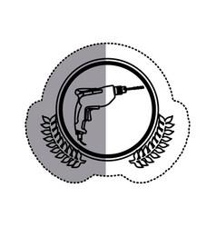 contour symbol drill icon image vector image