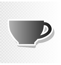 cup sign  new year blackish icon on vector image