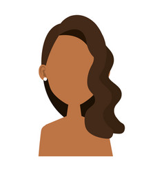 Beautiful and young black woman student vector
