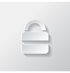 Padlock web icon vector