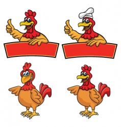chickenmascot vector image