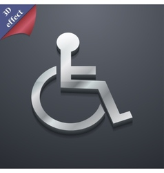 Disabled icon symbol 3d style trendy modern design vector