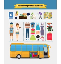 Travel infographics elements vector image