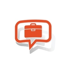 Briefcase message sticker orange vector