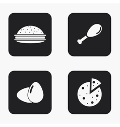 Modern food icons set vector