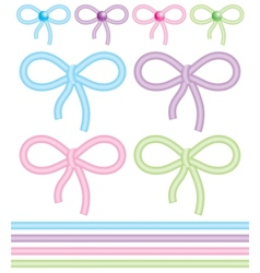 cute bows vector image