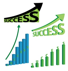 Success graphs vector