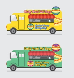 Side view colorful food truck vector