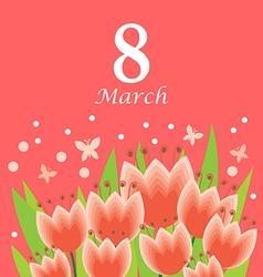 8 m tulip pink vector image vector image