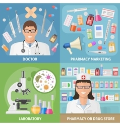 Medicine icon set vector