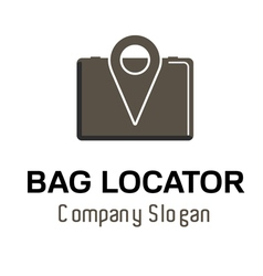 Bag locator logo vector