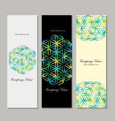 Banners design flower of life vector