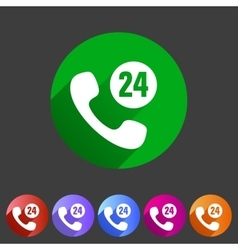 Call support center icon flat web sign symbol logo vector
