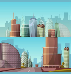 Cityscape city and nature vector