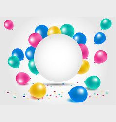 Colorful balloons for happy birthday celebration vector