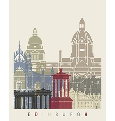 Edinburgh skyline poster vector