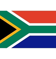 Flag of south africa vector