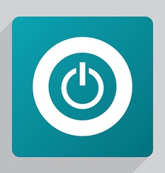 flat power on icon vector image vector image