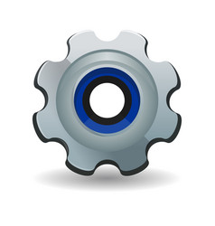 gear cogwheel gearwheel rackwheel screw-wheel vector image