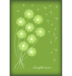 Gift card with abstract dandelion vector
