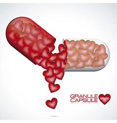 Love Capsule vector image
