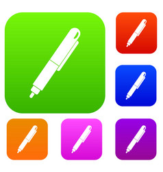 marker pen set color collection vector image