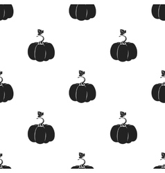 Pumpkin icon in black style isolated on white vector