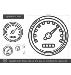 Speed limit line icon vector