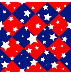 Stars usa flag diamond chessboard background vector