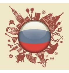 Symbol of russia vector