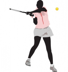 tennis woman vector image vector image
