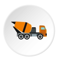 Truck mixer icon flat style vector
