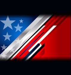 Usa flag color template vector