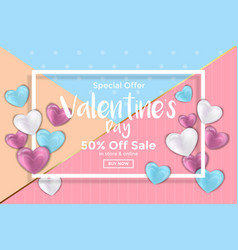 valentines day card or sale banner vector image vector image