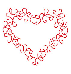 Vintage heart on a white background vector