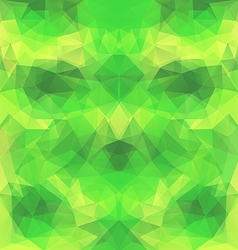 Yellow-green polygonal background vector