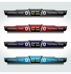 scoreboard icons sport vector image