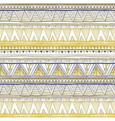 Tribal seamless geometric pattern ethnic motifs in vector